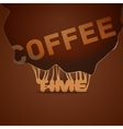 Coffee background trendy style vector image