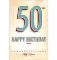 Happy birthday retro background vector image