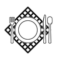 Picnic served table icon in black style isolated vector image