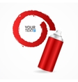 Red Spray Can Write Speech Bubble vector image