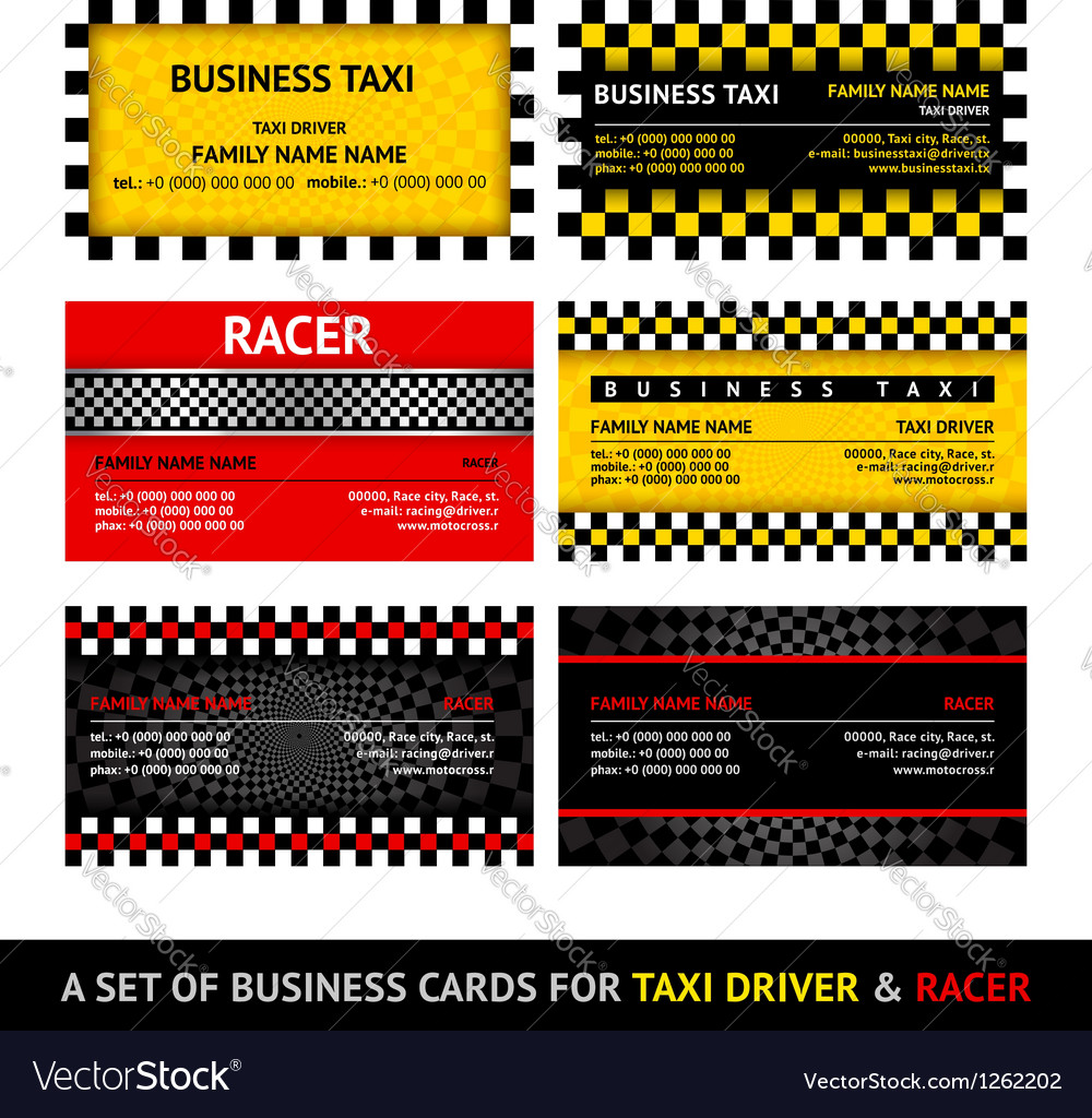Business card taxi  eleventh set vector