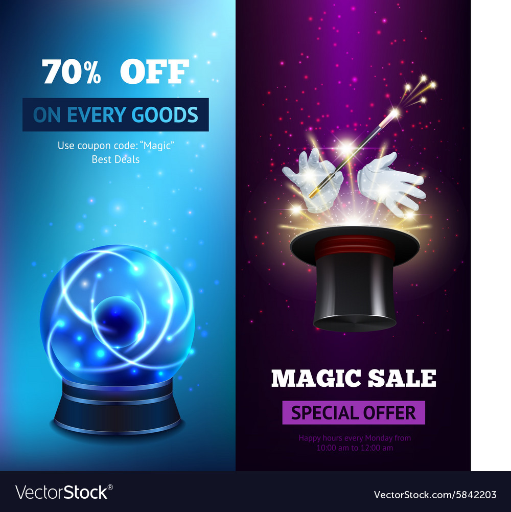 Magic banners vertical vector
