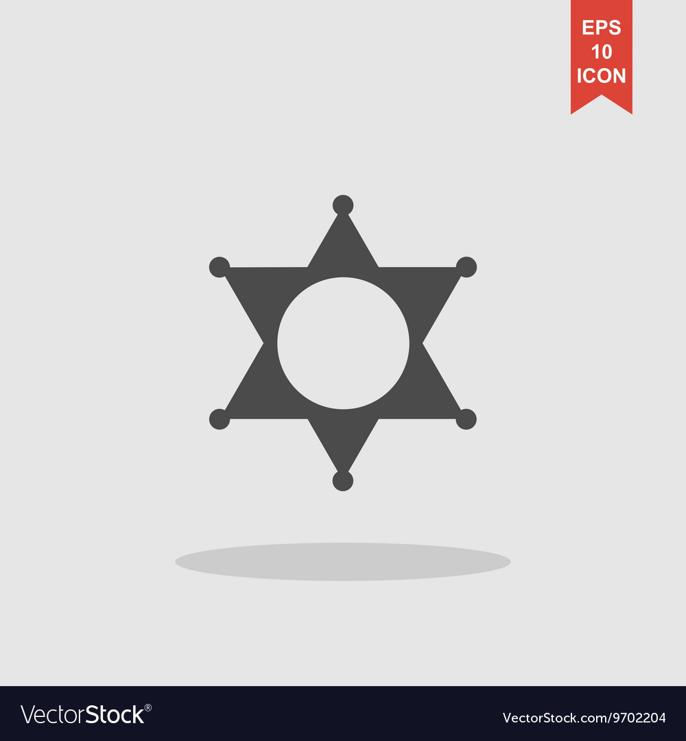 Sheriff star collection modern trend concept vector