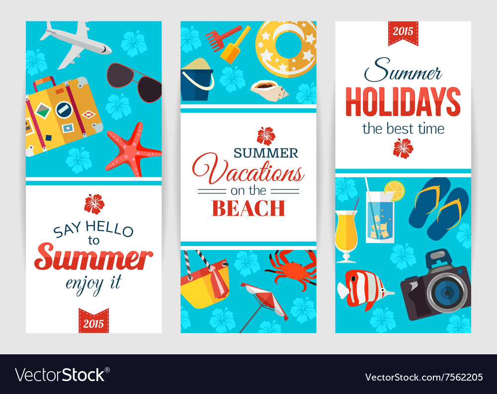 Summertime typographical banners with place for vector