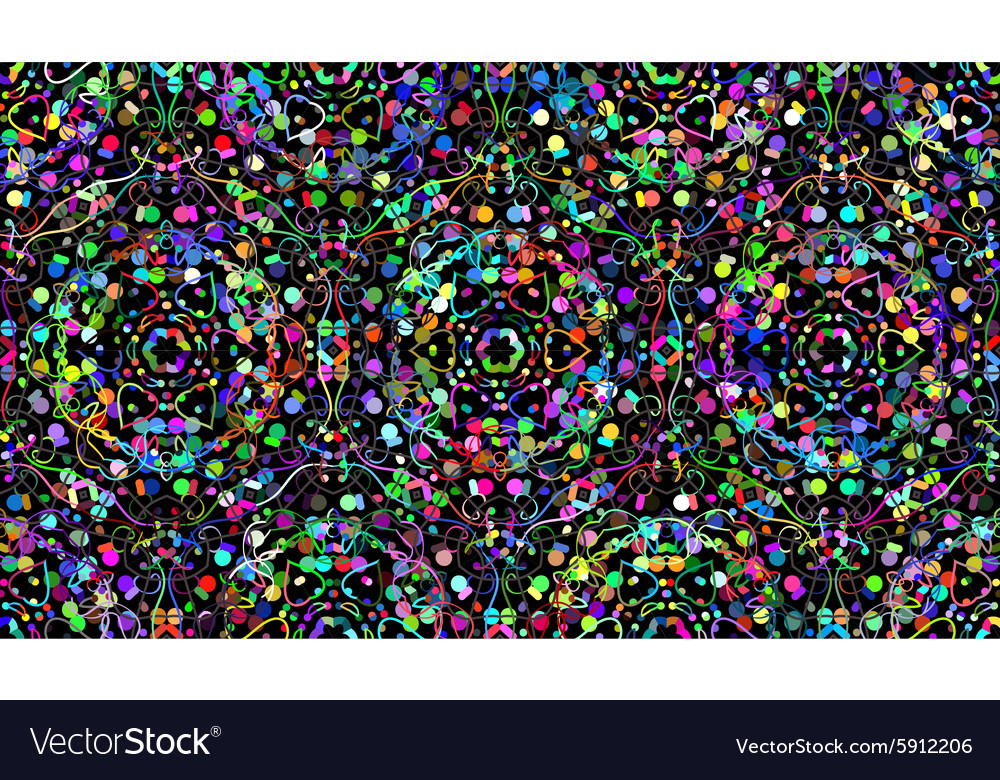 Seamless color lines background vector