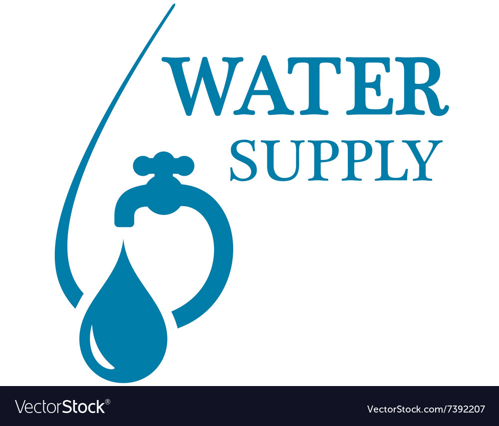 Water supply concept icon vector
