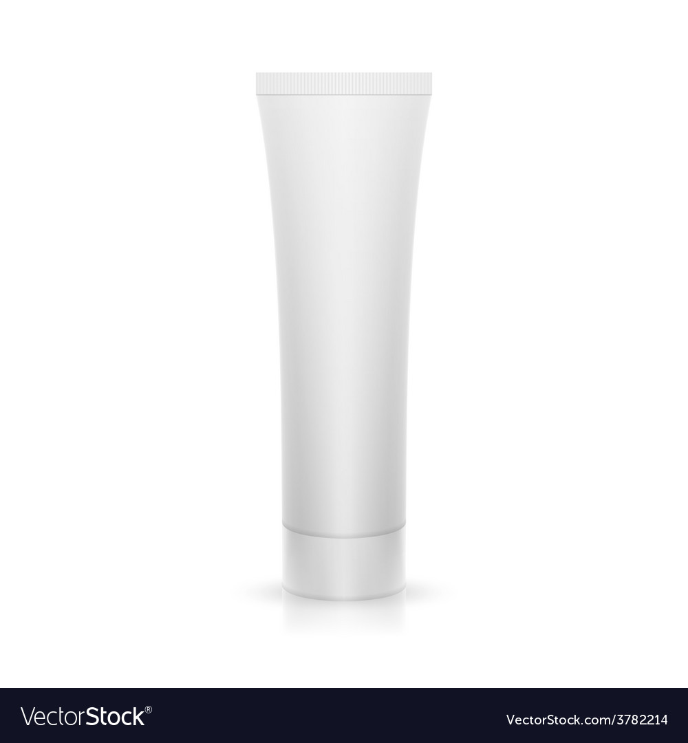 Plastic tube on glossy surface vector