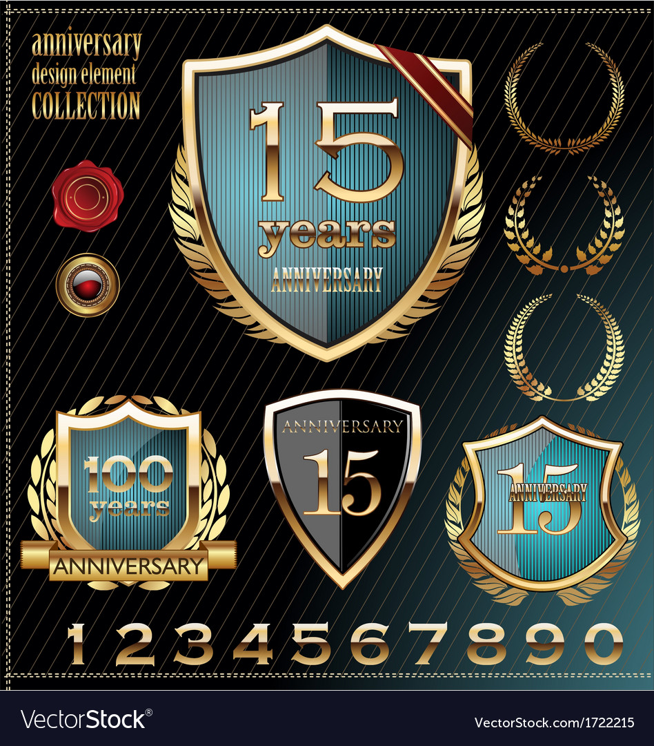 Anniversary design element collection vector