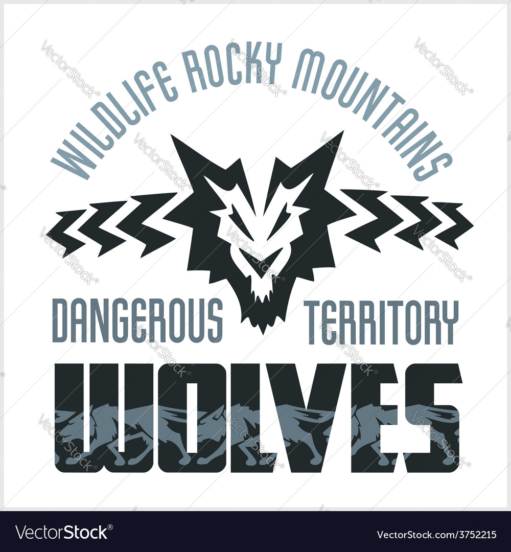 Head wolf  north american ornamental style vector