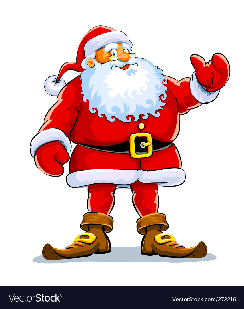 Christmas santa claus stand vector