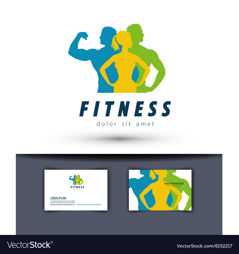 Gym logo design template fitness or sports vector