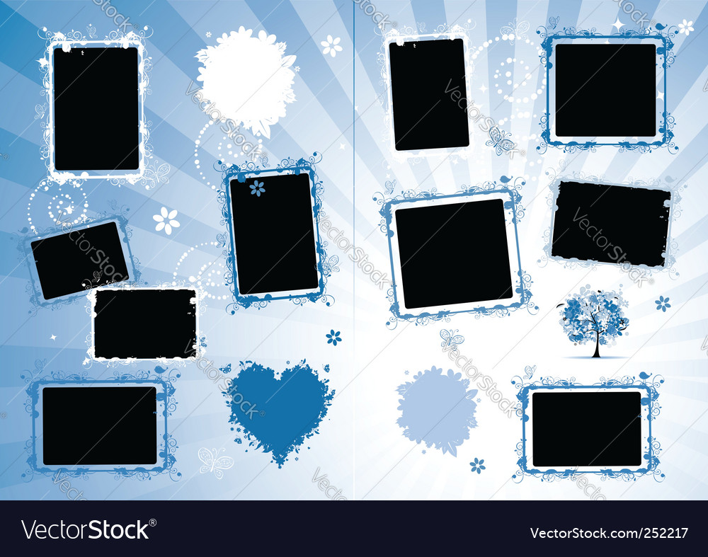 Photo album design vector