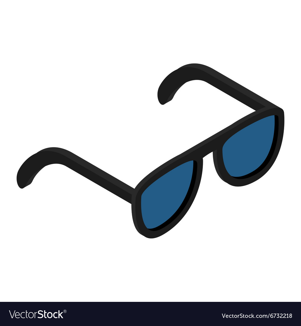 Sunglasses isometric 3d icon vector
