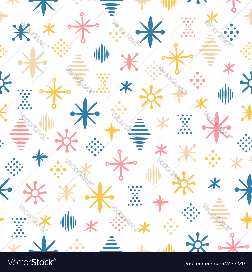 Abstraction shapes seamless pattern vector