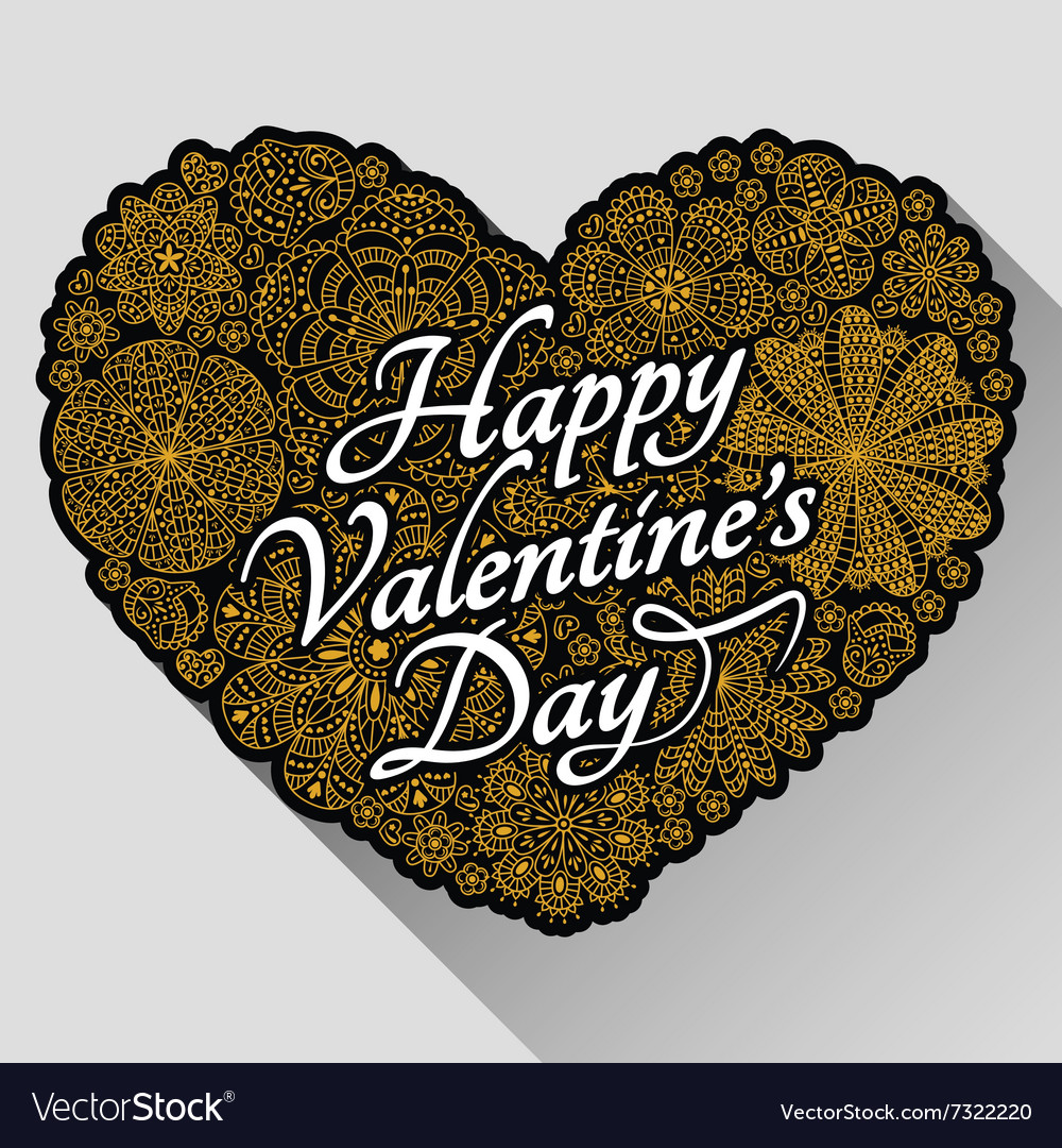 Card design for valentines day vector