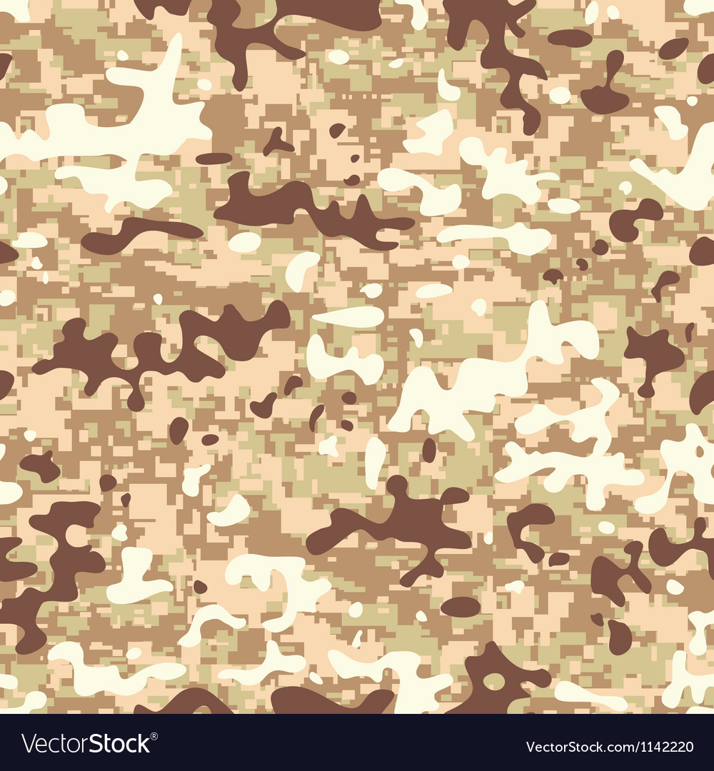 Digital multicam desert camouflage vector