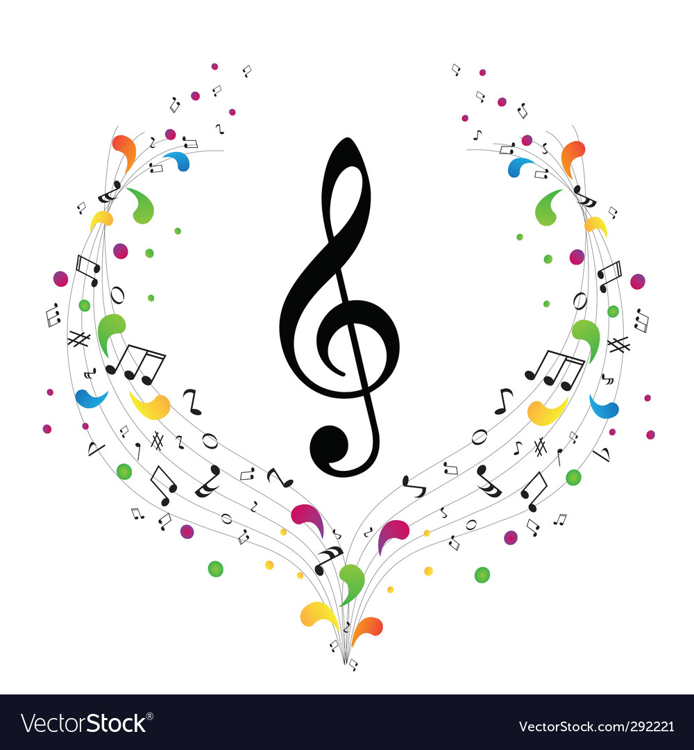 Music logo treble clef and vector