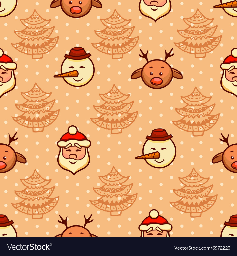 Christmas pattern 3 vector