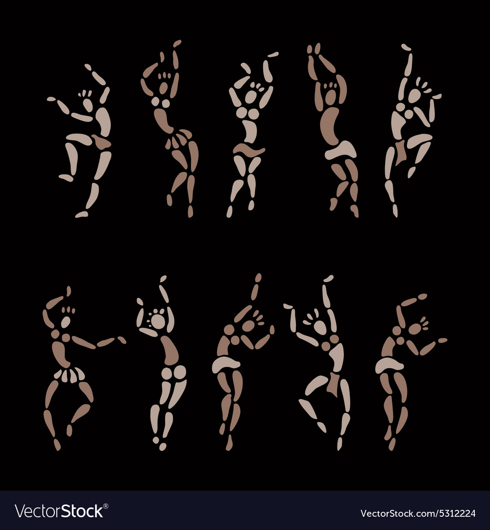 Figures of african dancers vector