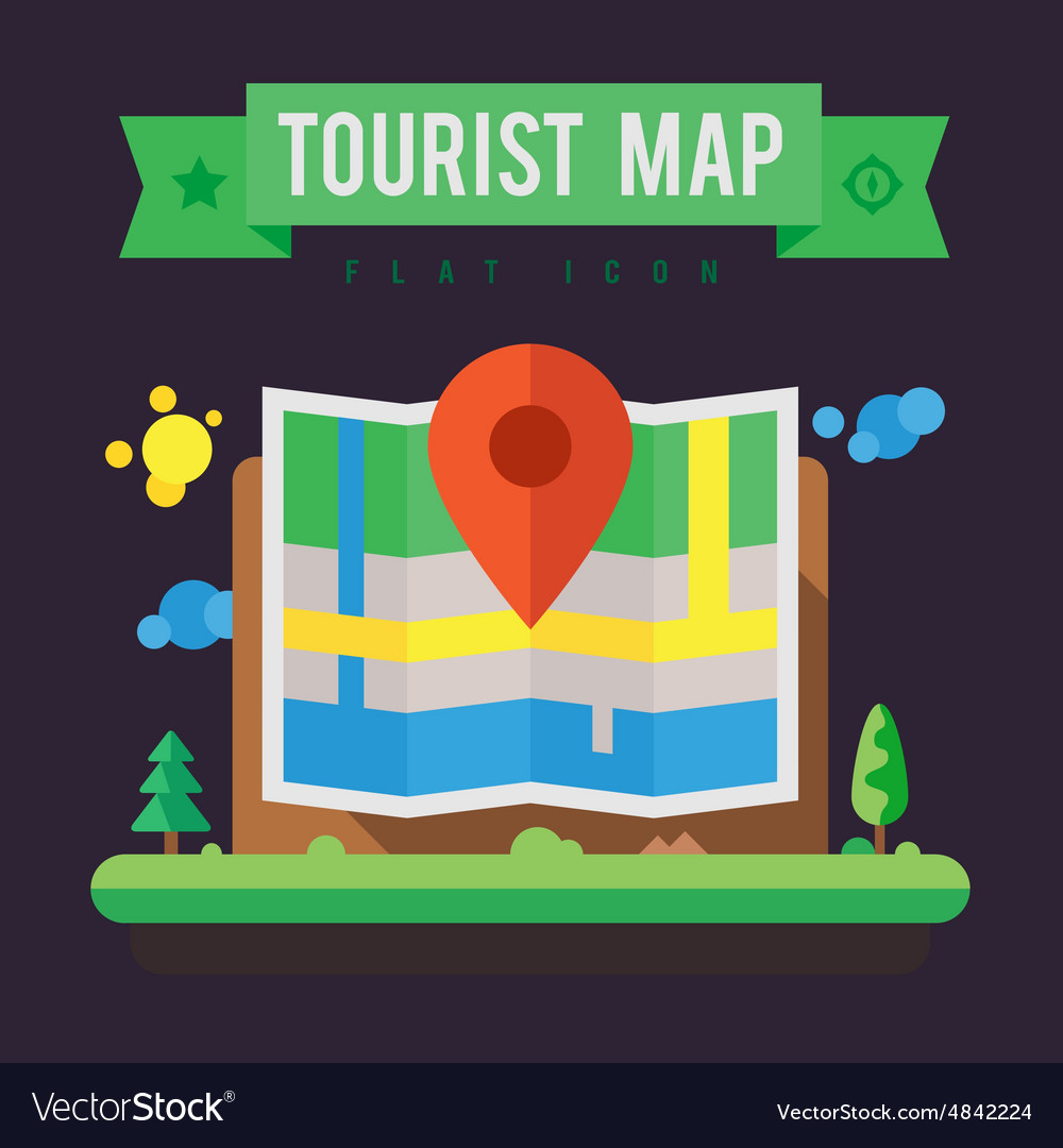 Tourist map vector