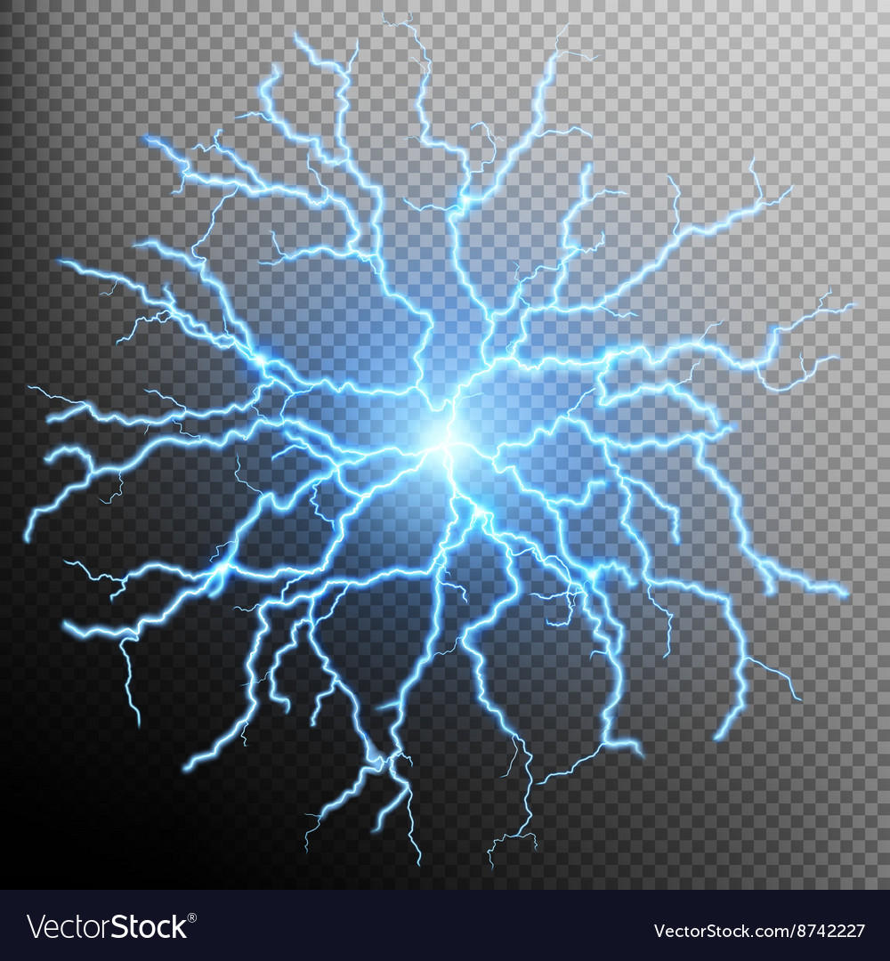 Blue flash light effect eps 10 vector