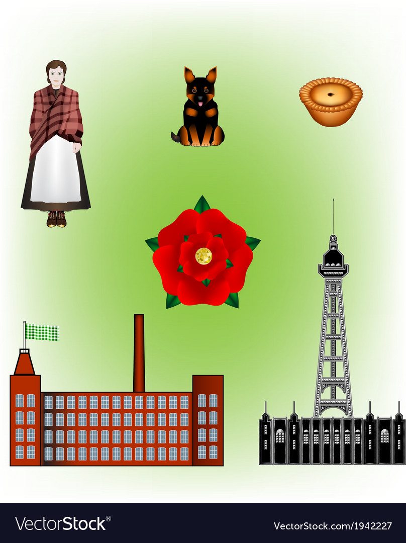 Lancashire  north of england vector