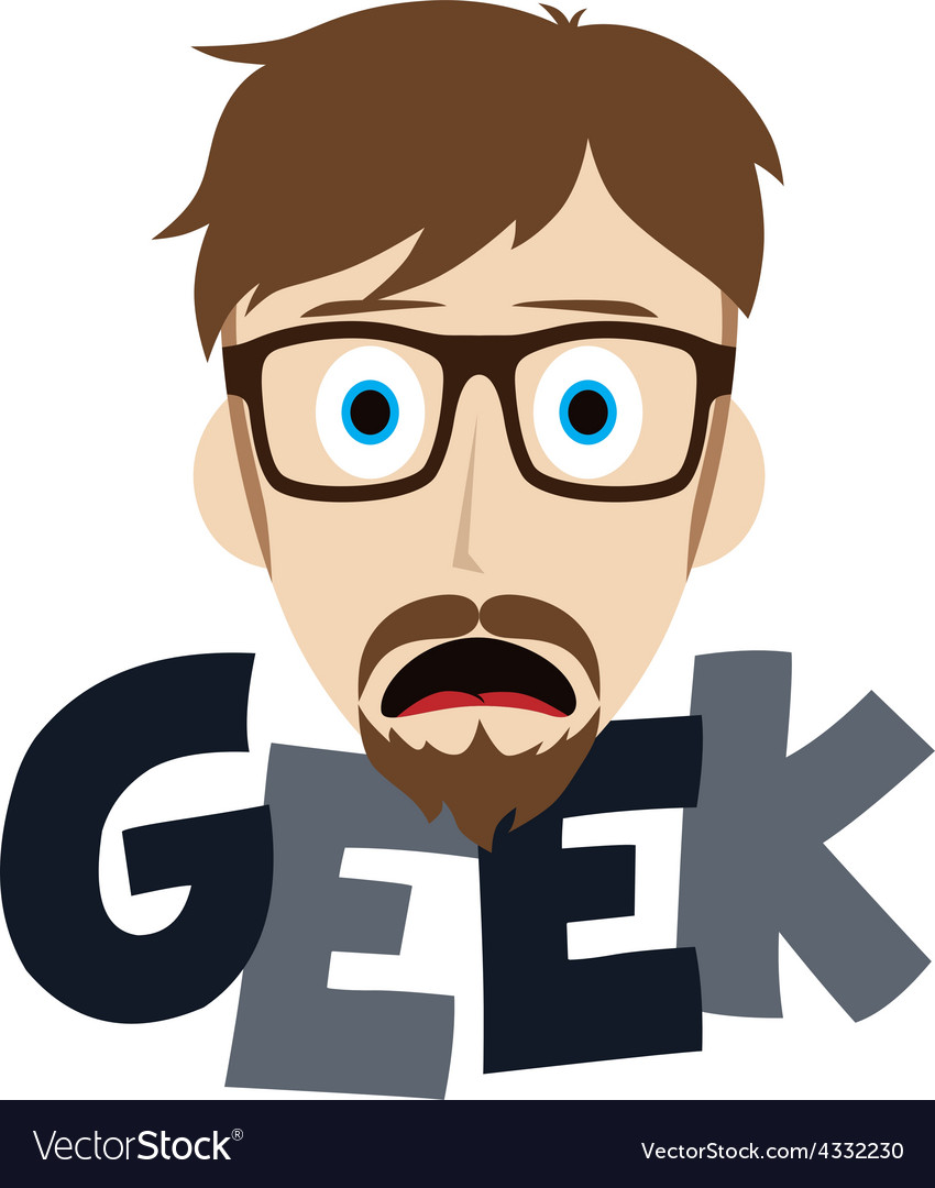 Geek boy vector