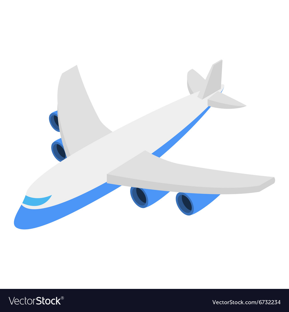 Plane isometric 3d icon vector