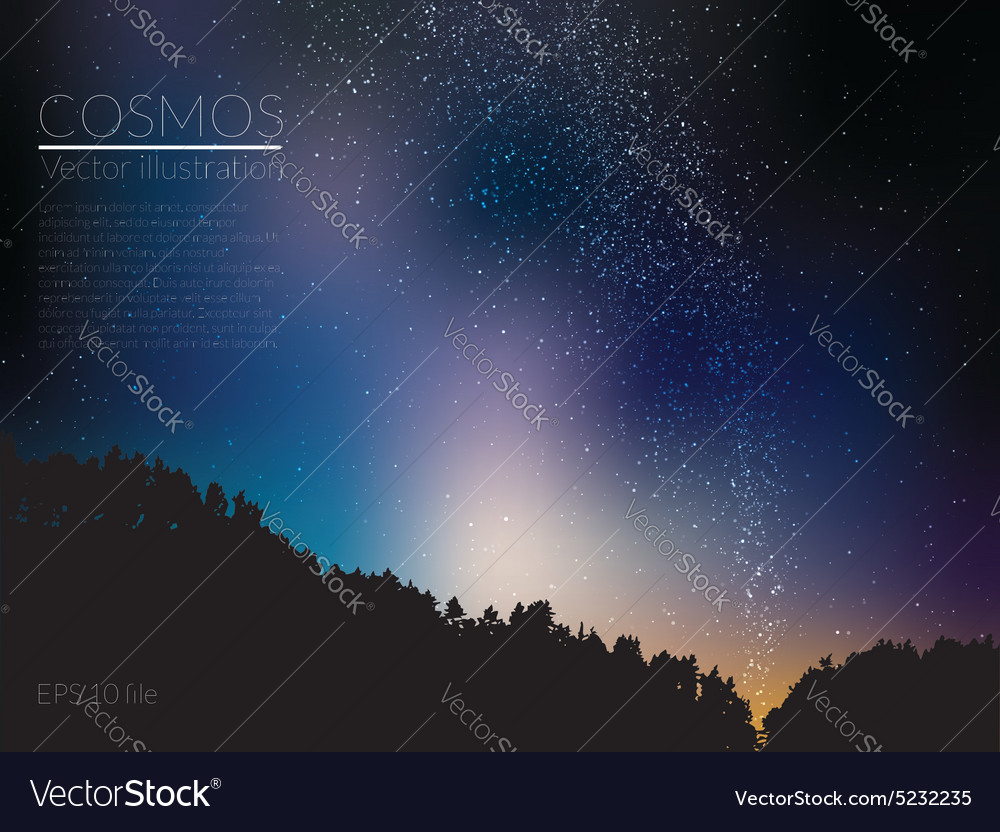 deep sky night vector