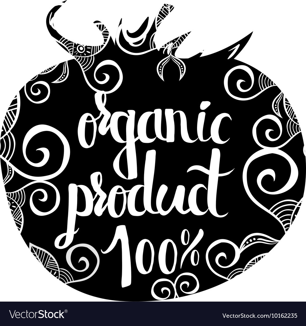 Creative typographic poster on a black silhouette vector