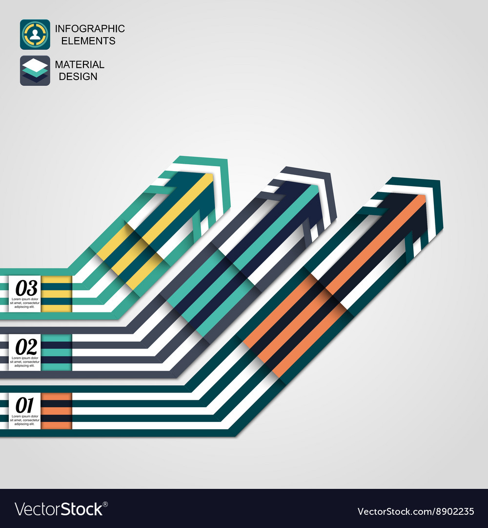 Modern infographic elements business arrows vector