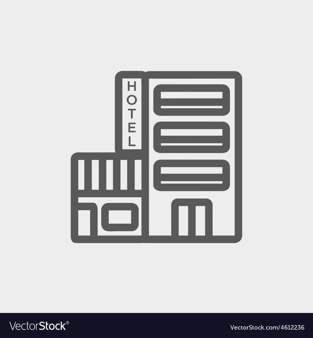 Hotel thin line icon vector