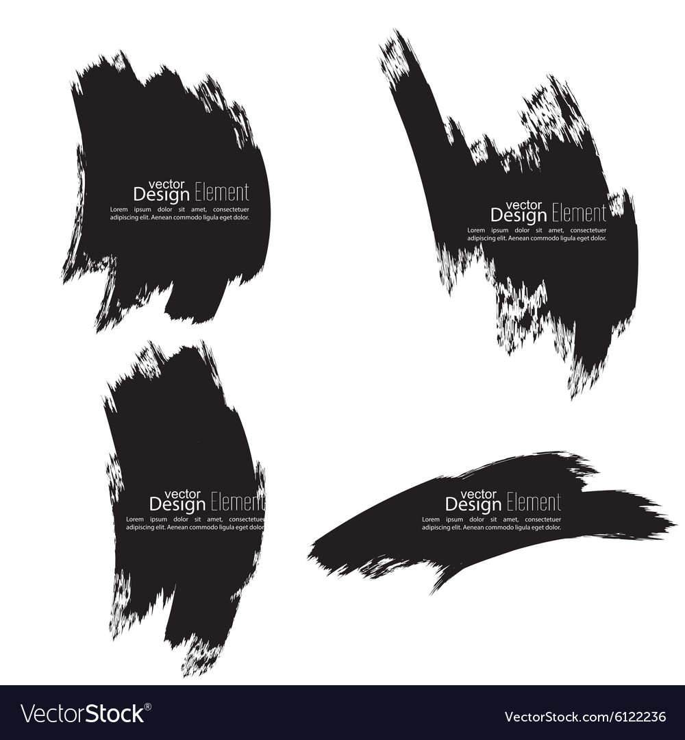 Set of hand drawn smears vector