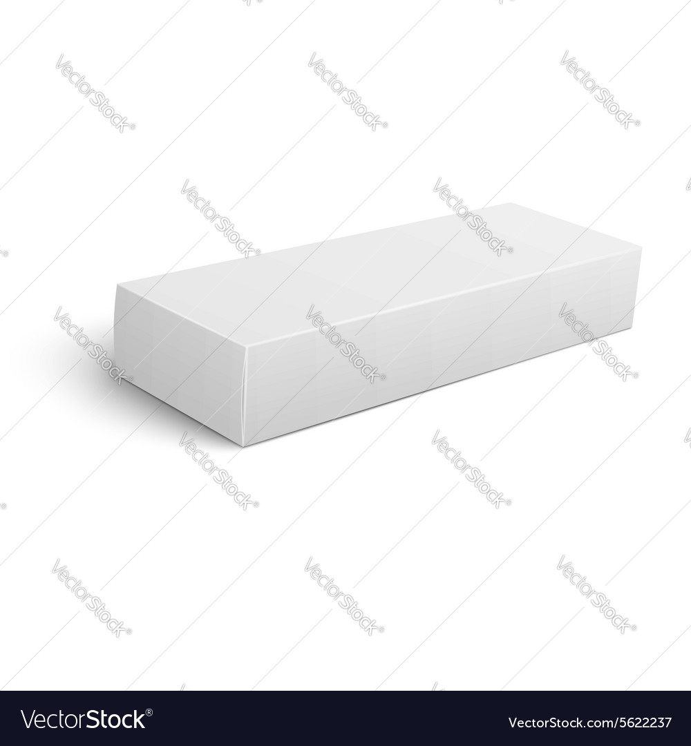 Long blank cardboard box template vector