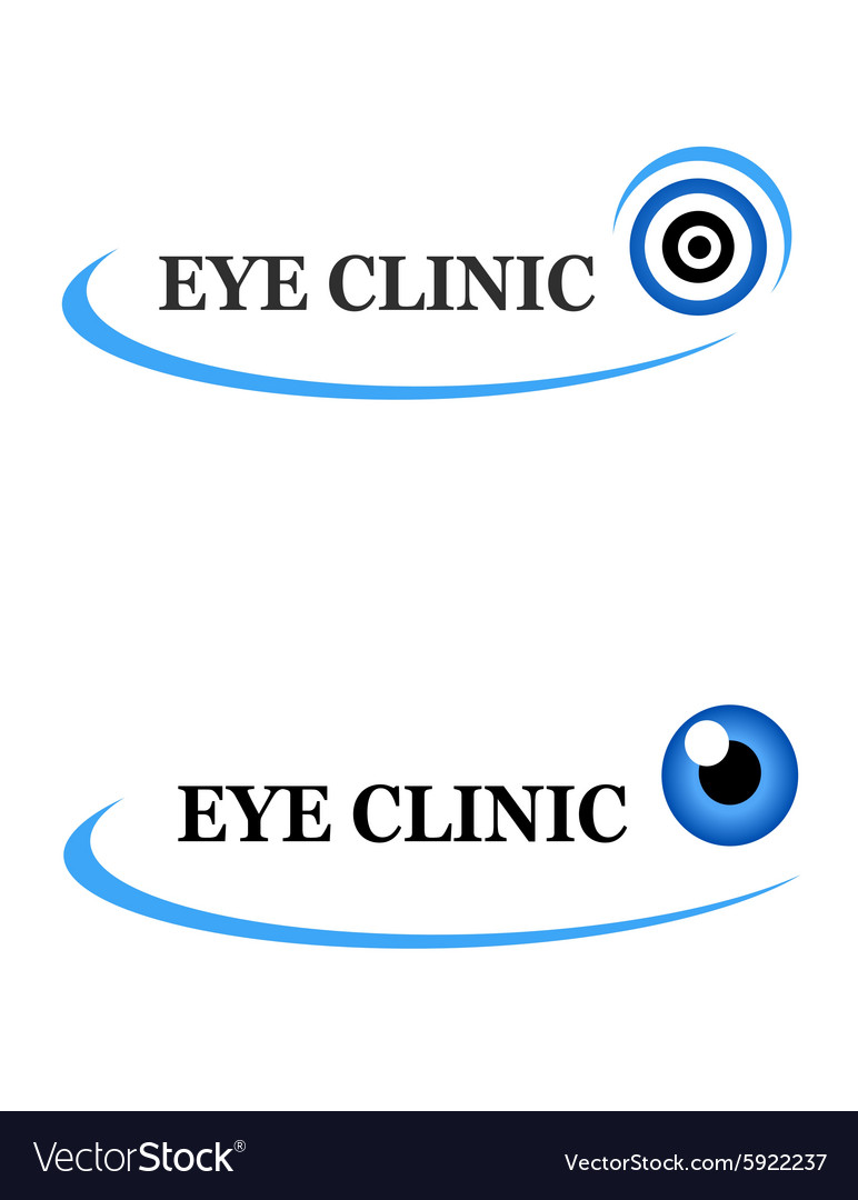 Two icons of eye clinic vector
