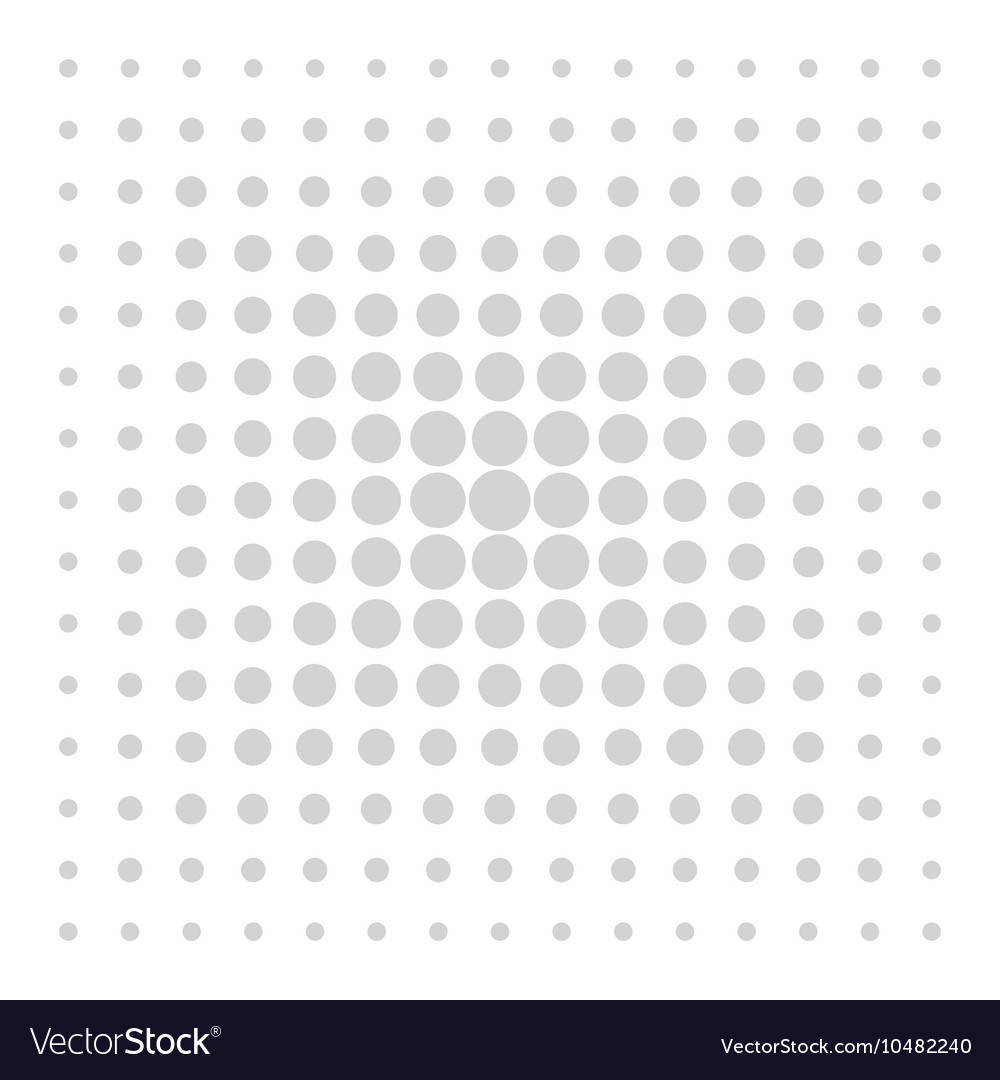 Grey comic pattern dots on white background vector