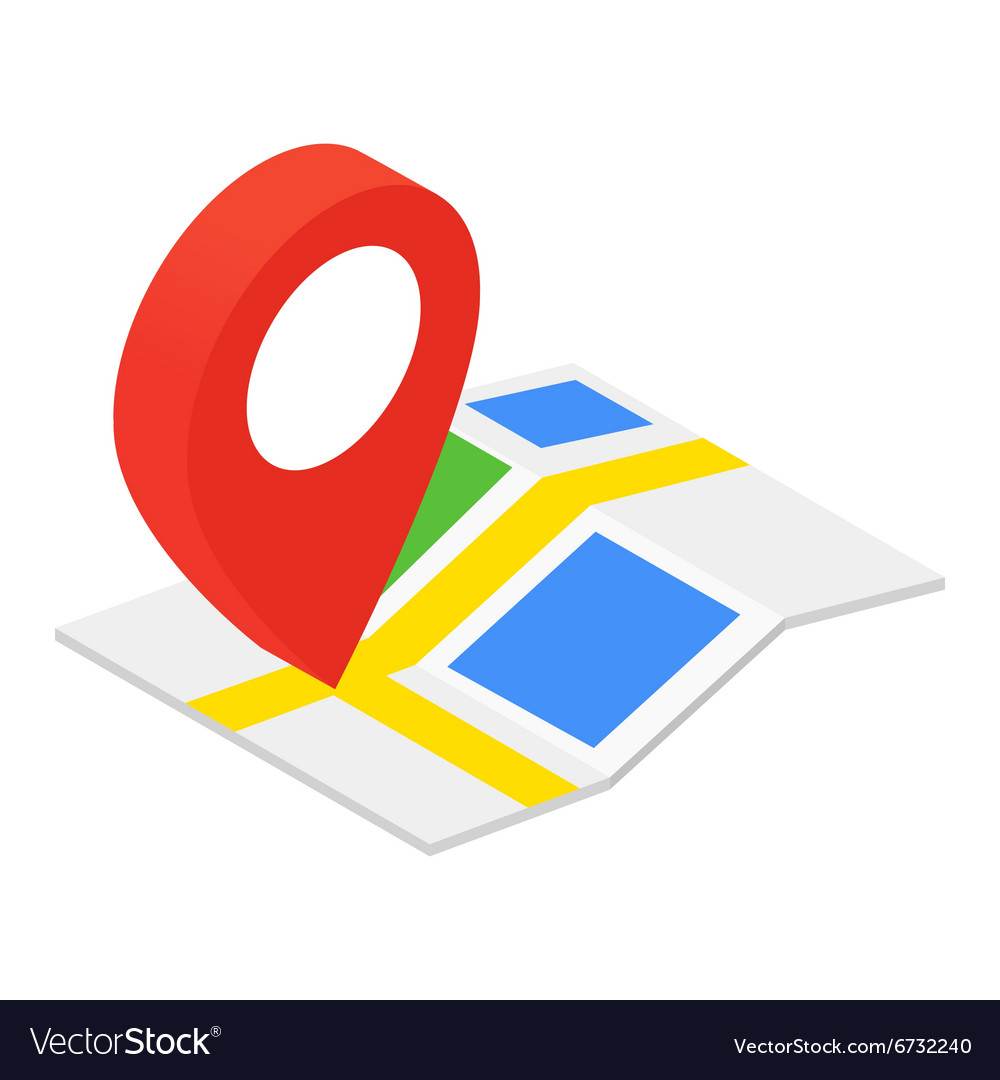 Location isometric 3d icon vector