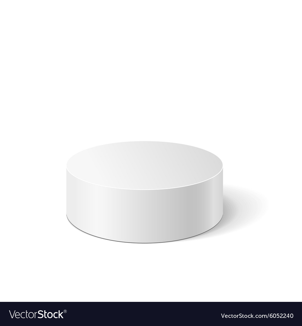 White cylinder vector