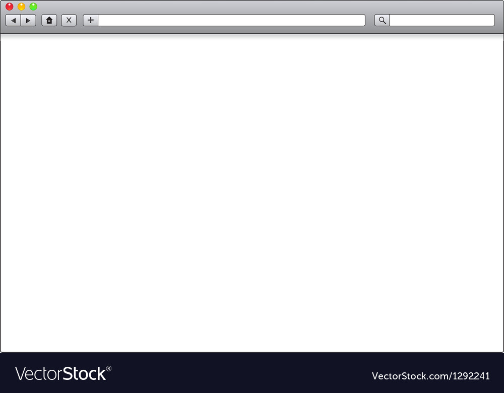 Blank window of internet browser template vector