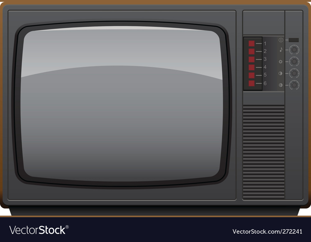 Soviet tv set vector