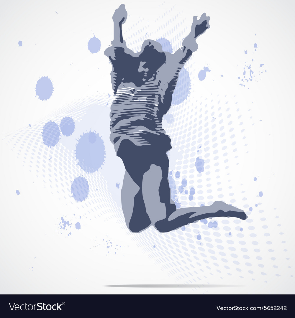 Jumping girl vector