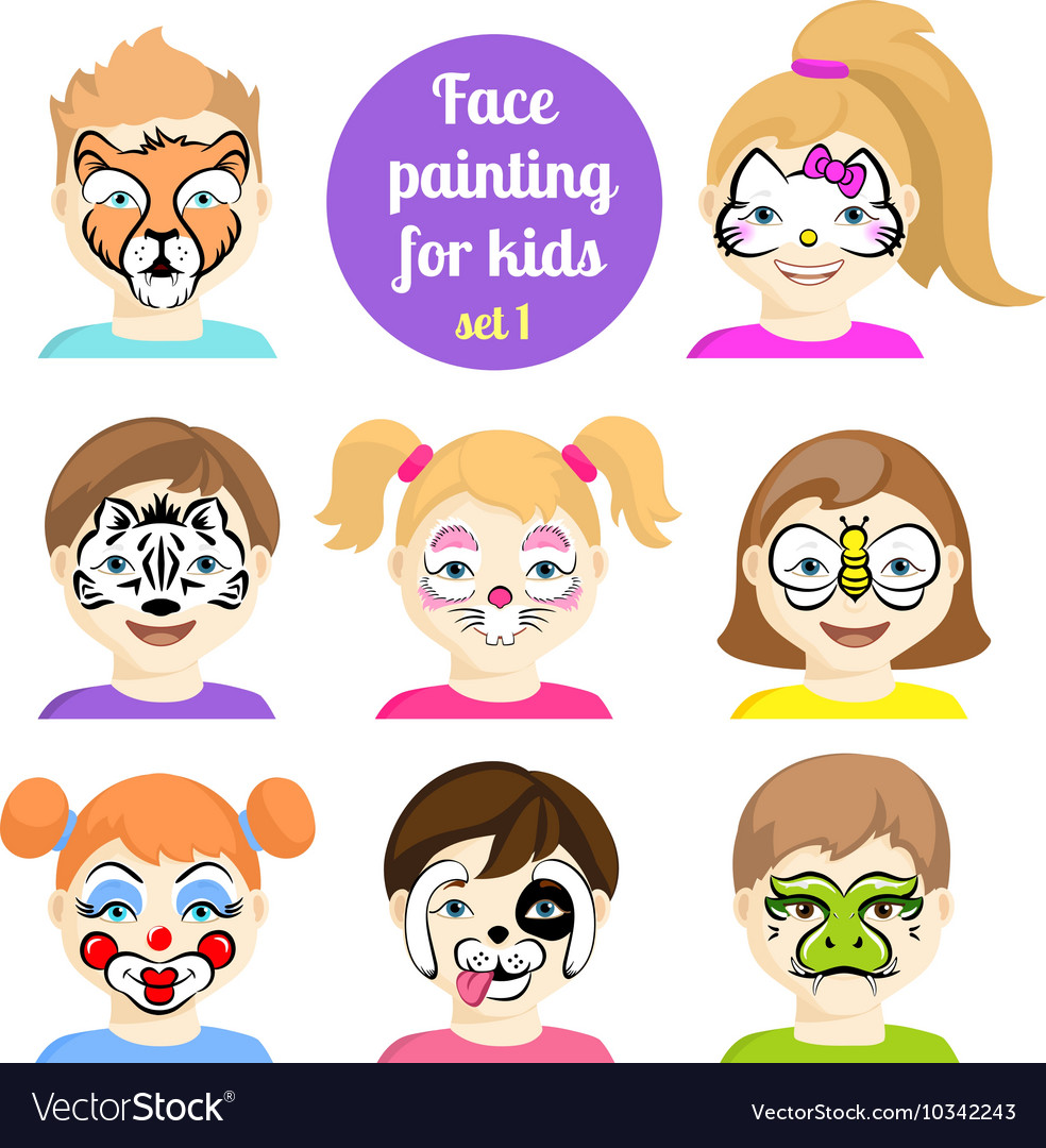 Face painting 7 vector