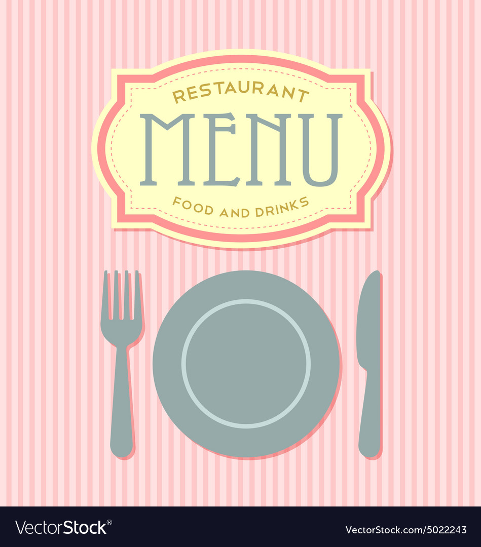 Restaurant menu cover template vector