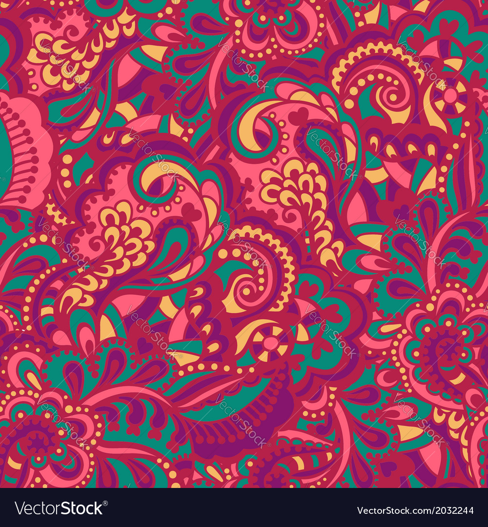 Seamless abstract handdrawn pattern vector