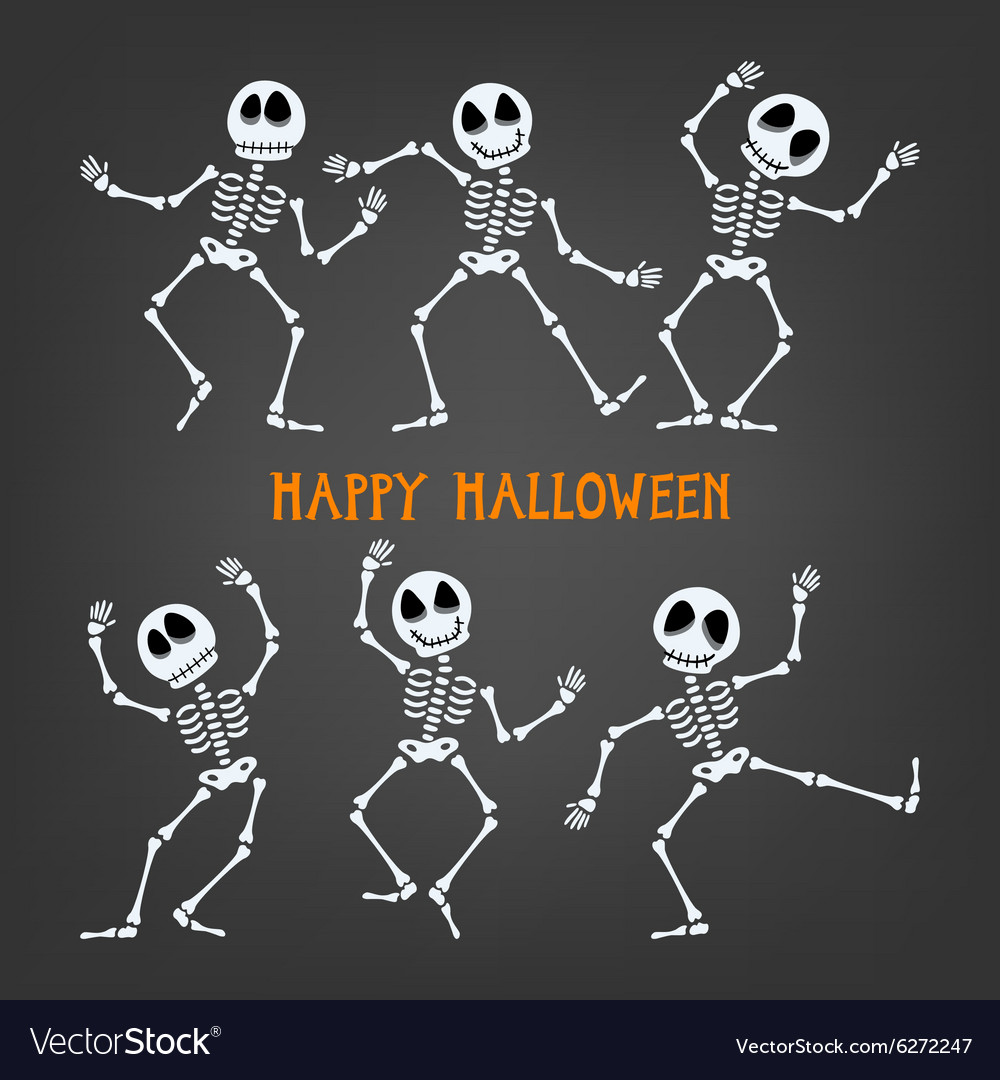 Halloween skeleton vector