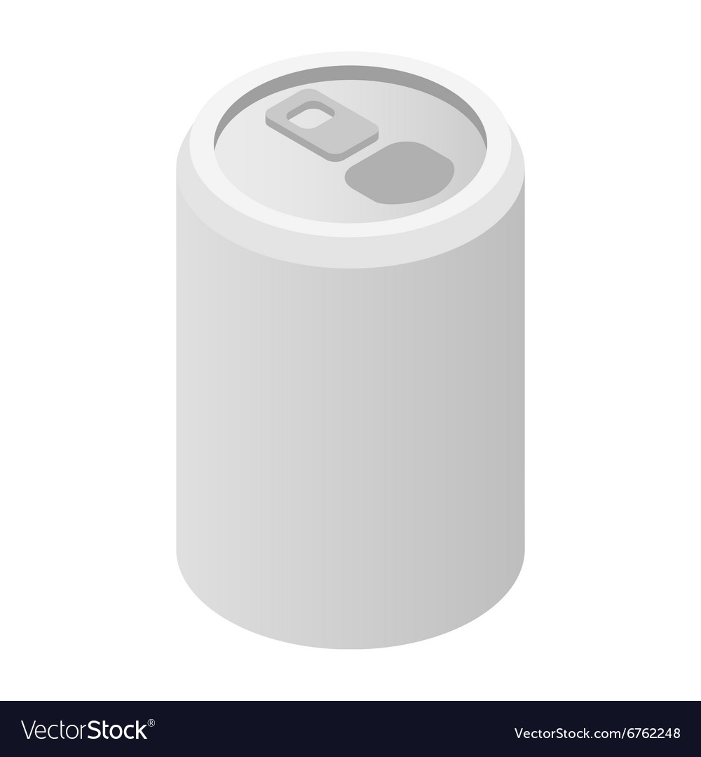 Aluminum can isometric 3d icon vector
