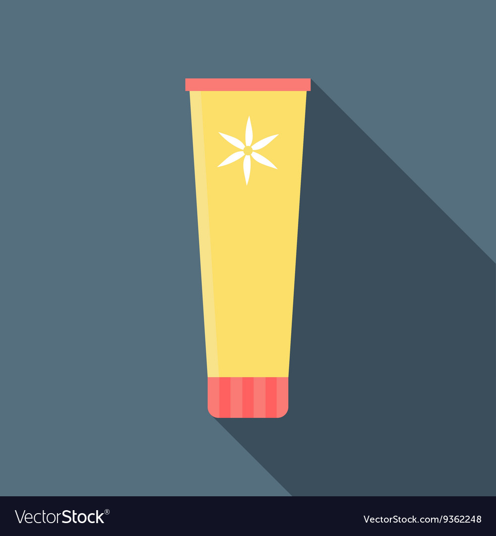 Cosmetic tube icon flat style vector