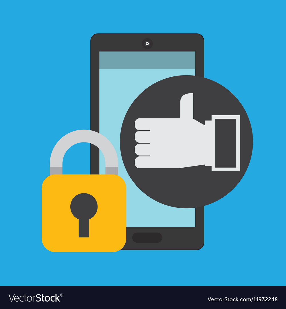 Smartphone hand like money security vector