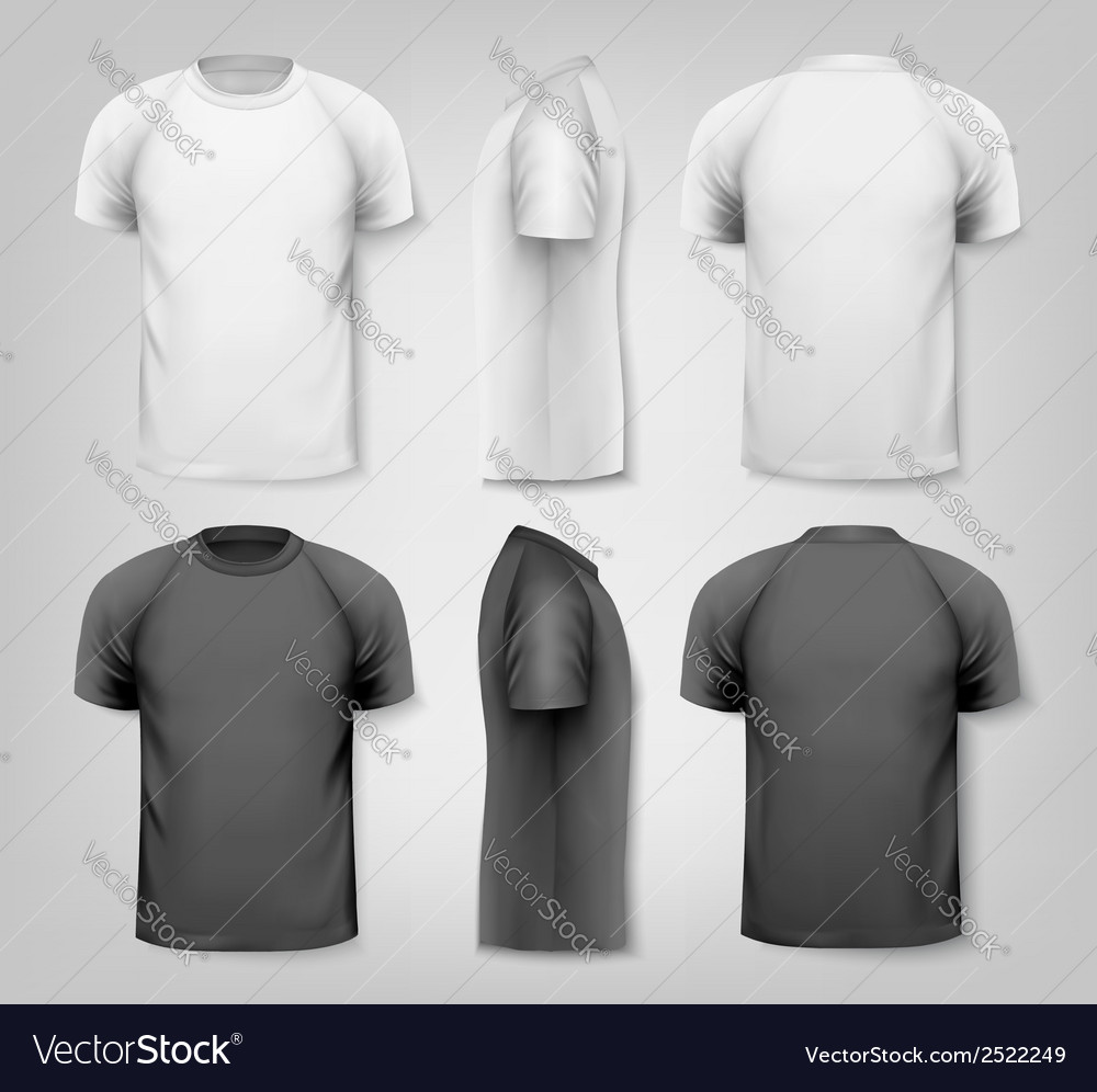 Colorful male tshirts design template vector