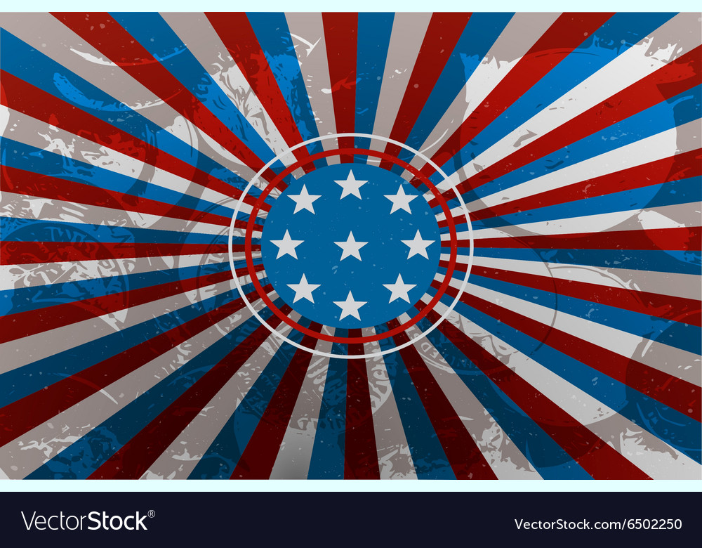 Colorful background in the us national flag colors vector